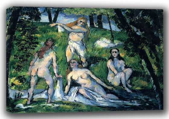 Cezanne, Paul: Four Bathers. Fine Art Canvas. Sizes: A3/A2/A1 (001019)